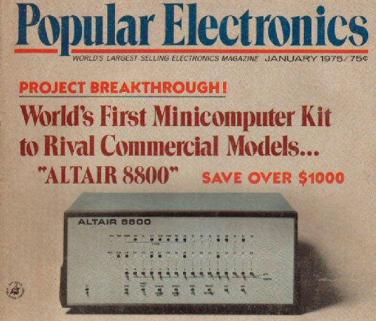 Ad for the MITS ALTAIR 8800 in Popular Electronics magazine 1975